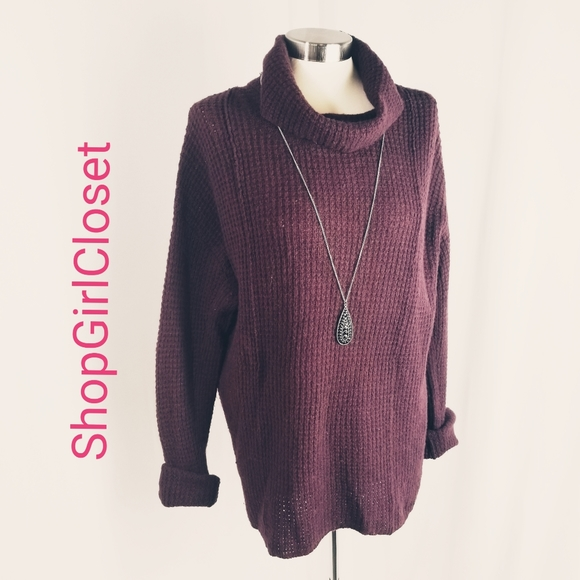 💥Just In💥Free People Burgandy Sweater...Sz M